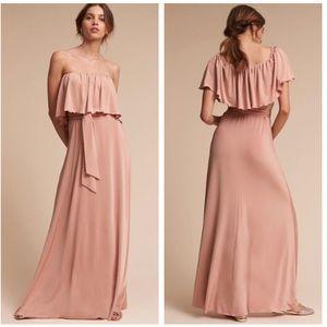 BHLDN Two Birds Maya Blush Pink Maxi Dress